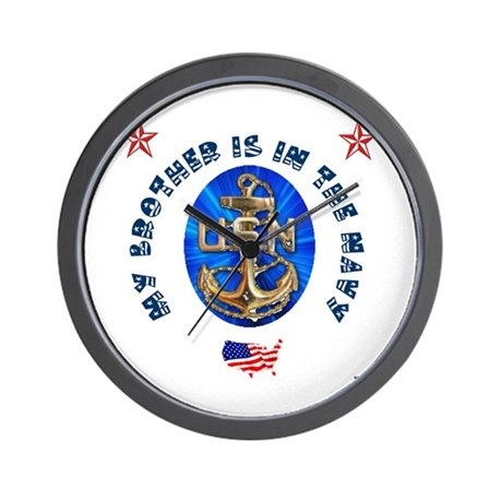 Navy Brother Wall Clock