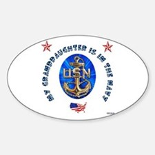 Navy Granddaughter Oval Decal