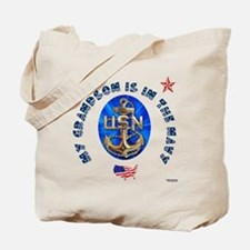 Navy Grandson Tote Bag