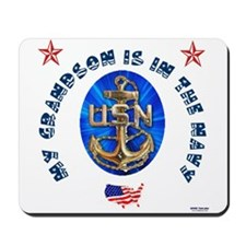 Navy Grandson Mousepad