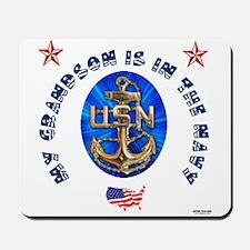 Navy Grandson Mousepad