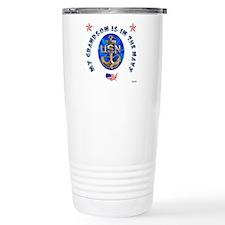 Navy Grandson Travel Mug