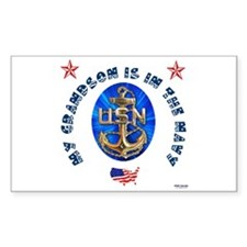 Navy Grandson Rectangle Decal