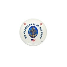 Navy Grandson Mini Button (10 pack)
