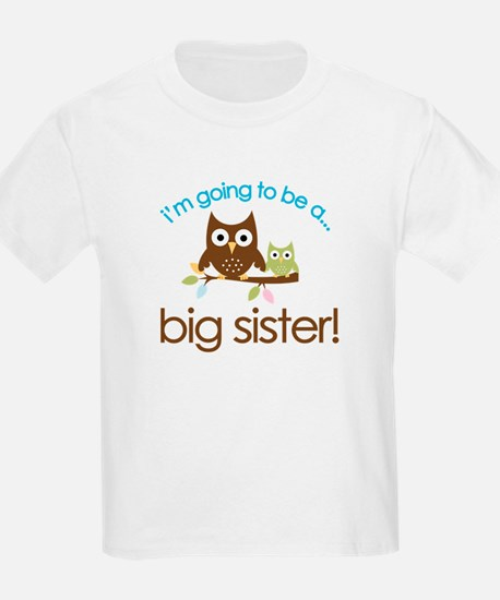 i'm going to be a big sister owl shirt T-Shirt