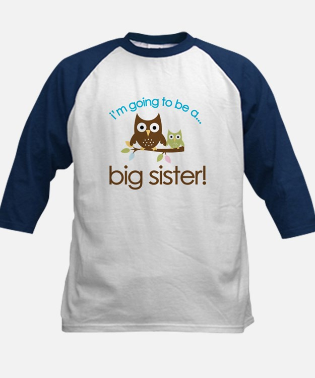 i'm going to be a big sister owl shirt Tee