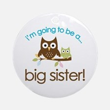 i'm going to be a big sister owl shirt Ornament (R