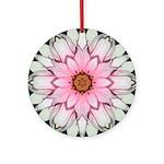 Pink and White Dahlia I Ornament (Round)