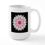 Pink and White Dahlia I Large Mug