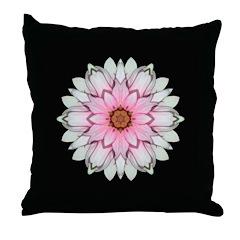 Pink and White Dahlia I Throw Pillow