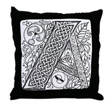 Celtic Letter A Throw Pillow