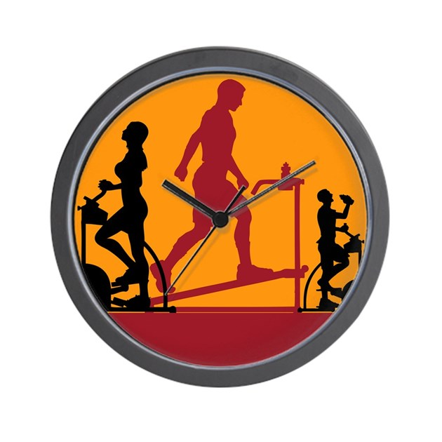 gym exercise fitness wall clock by oshishop