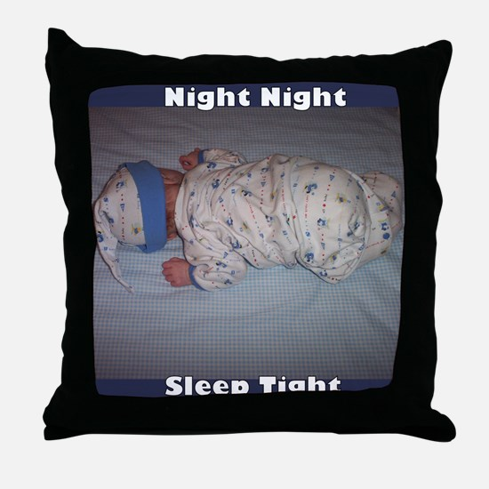"""Night Night"" Cutest Baby Ever Throw Pillow"