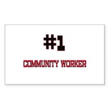 Number 1 COMMUNITY WORKER Rectangle Decal