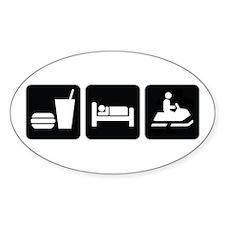 Eat Sleep Snowmobile Decal