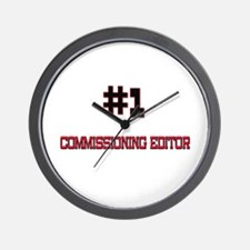 Number 1 COMMISSIONING EDITOR Wall Clock