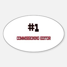 Number 1 COMMISSIONING EDITOR Oval Decal