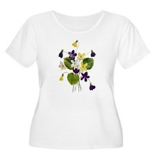 VIOLET BOUQUET FAUX EMBROIDERY T-Shirt