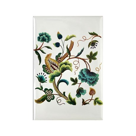 JACOBEAN EMBROIDERY Rectangle Magnet