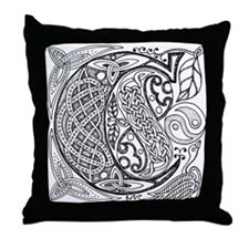 Celtic Letter C Throw Pillow