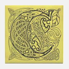 Celtic Letter C Tile Coaster