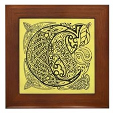 Celtic Letter C Framed Tile