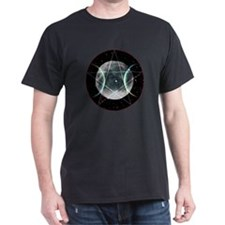 Pentagram Moon Black T-Shirt