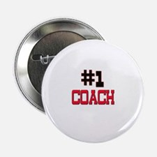 """Number 1 COACH 2.25"""" Button"""
