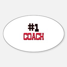 Number 1 COACH Oval Decal