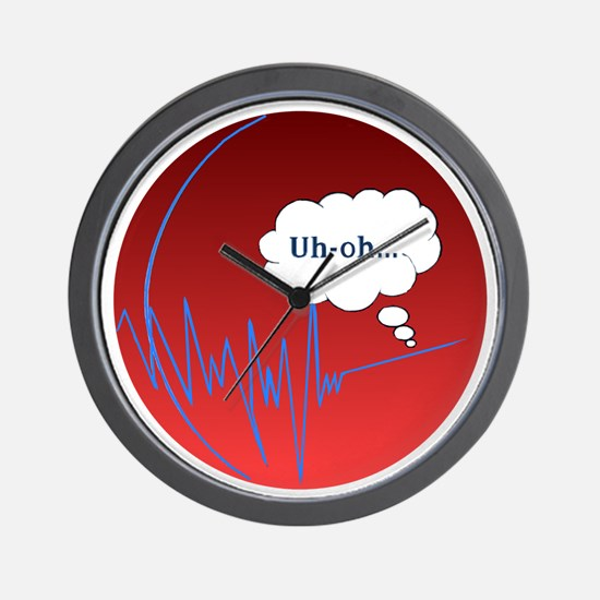 Uh Oh FlatlineTri-v Wall Clock