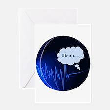 Uh Oh Dark Blue Greeting Card