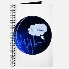 Uh Oh Dark Blue Journal