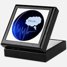 Uh Oh Dark Blue Keepsake Box