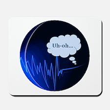 Uh Oh Dark Blue Mousepad
