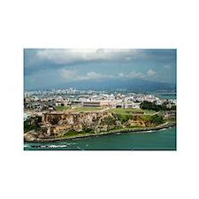 El Morro n' Old San Juan Rectangle Magnet