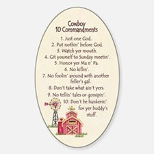10 Commandments - Farm Oval Decal
