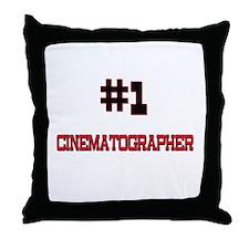 Number 1 CINEMATOGRAPHER Throw Pillow