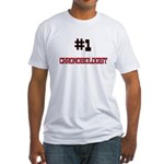 Number 1 CHRONOBIOLOGIST Fitted T-Shirt