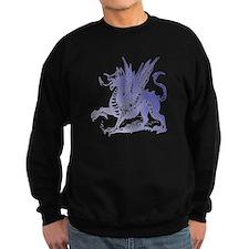 Fiery Purple Dragon Sweatshirt