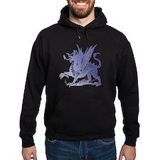 Fiery Purple Dragon Hoodie