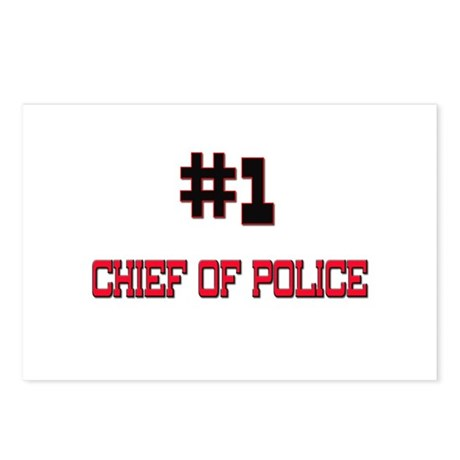 Number 1 CHIEF OF POLICE Postcards (Package of 8)