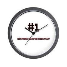 Number 1 CHARTERED CERTIFIED ACCOUNTANT Wall Clock
