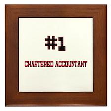 Number 1 CHARTERED ACCOUNTANT Framed Tile