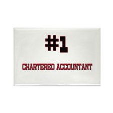Number 1 CHARTERED ACCOUNTANT Rectangle Magnet