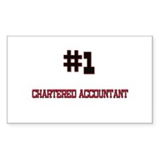 Number 1 CHARTERED ACCOUNTANT Rectangle Decal
