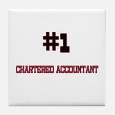 Number 1 CHARTERED ACCOUNTANT Tile Coaster