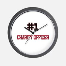 Number 1 CHARITY OFFICER Wall Clock