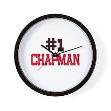 Number 1 CHAPMAN Wall Clock