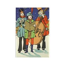 Vintage Christmas Musicians Rectangle Magnet (10 p