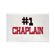 Number 1 CHAPLAIN Rectangle Magnet (10 pack)